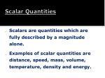 scalar quantities