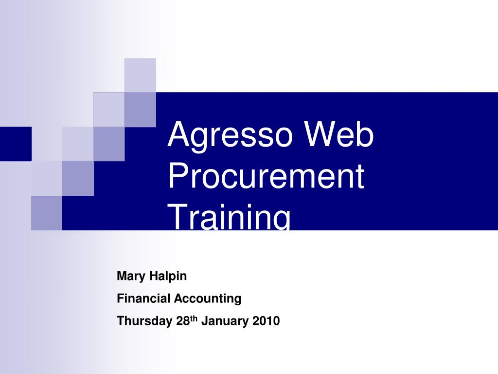 agresso web procurement training l.