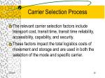 carrier selection process28