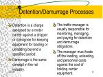 detention demurrage processes
