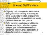 line and staff functions