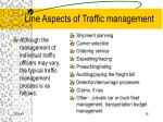 line aspects of traffic management