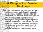 management and executive development