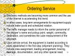 ordering service