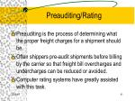 preauditing rating