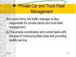private car and truck fleet management