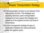 shipper transportation strategy