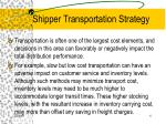 shipper transportation strategy4