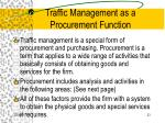 traffic management as a procurement function