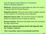 how do banks create money in a fractional reserve banking system