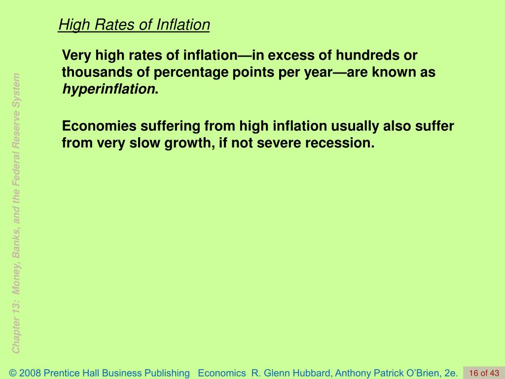 High Rates of Inflation
