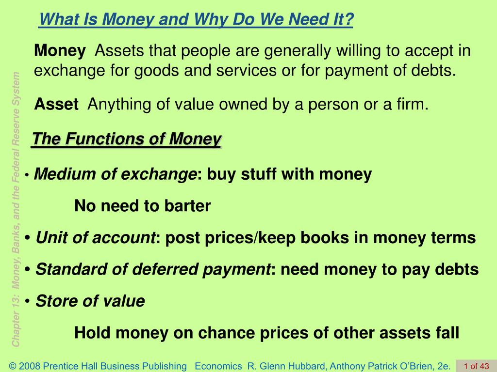 what is money and why do we need it l.
