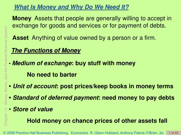 What is money and why do we need it