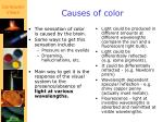 causes of color