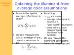 obtaining the illuminant from average color assumptions
