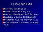 lighting and emc
