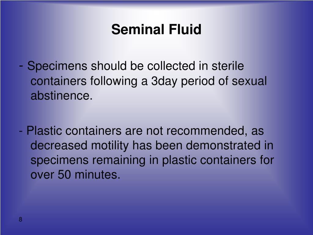 sperm viscocity Decreased