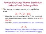 foreign exchange market equilibrium under a fixed exchange rate