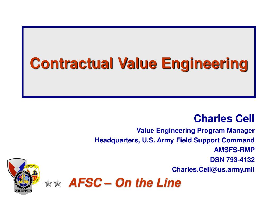 contractual value engineering l.