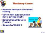 mandatory clause
