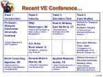 recent ve conference