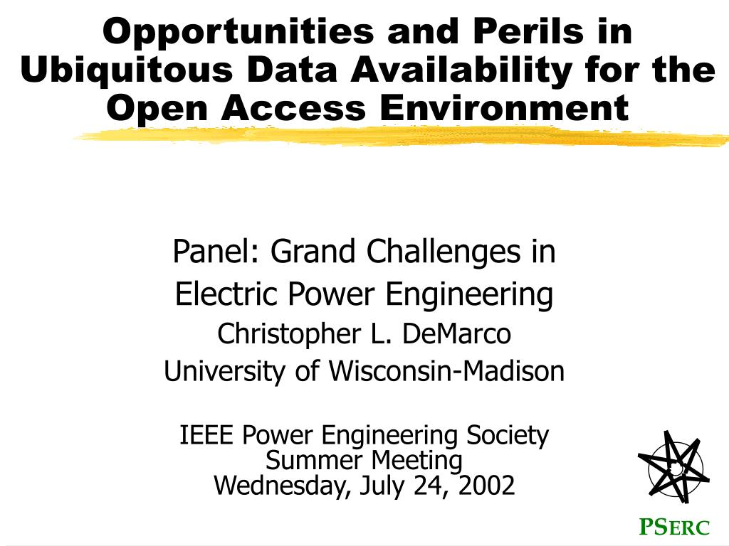opportunities and perils in ubiquitous data availability for the open access environment l.