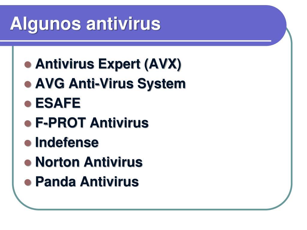Algunos antivirus
