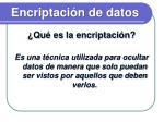 encriptaci n de datos