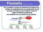 firewalls muro de fuego