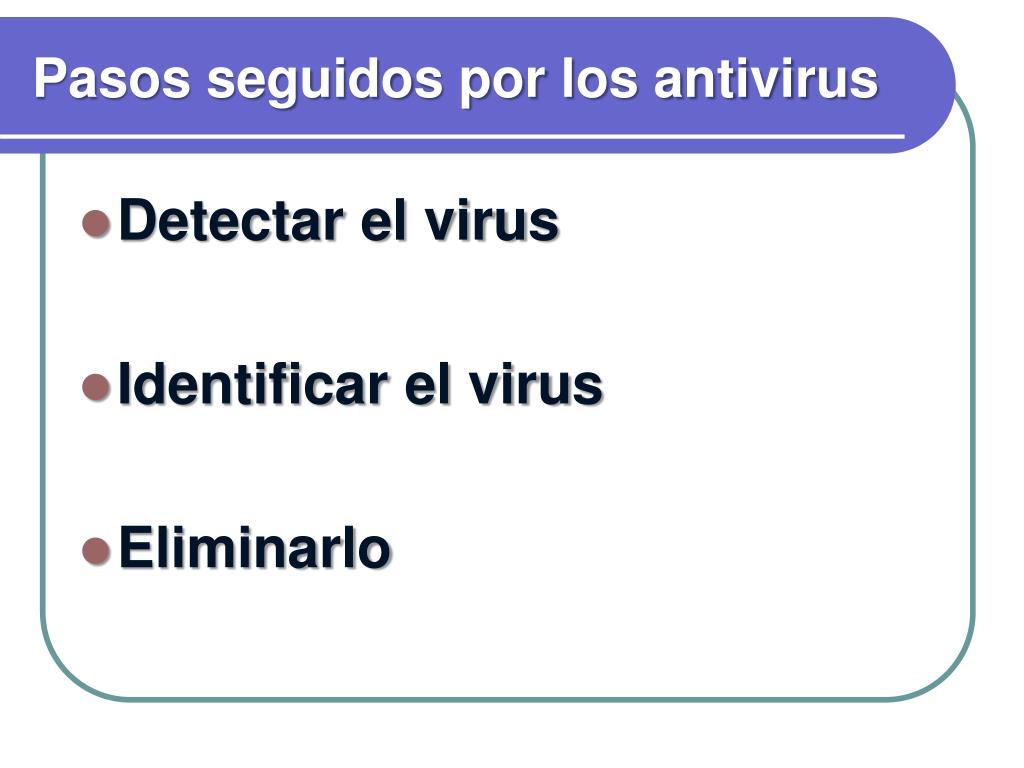Pasos seguidos por los antivirus