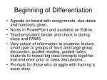 beginning of differentiation