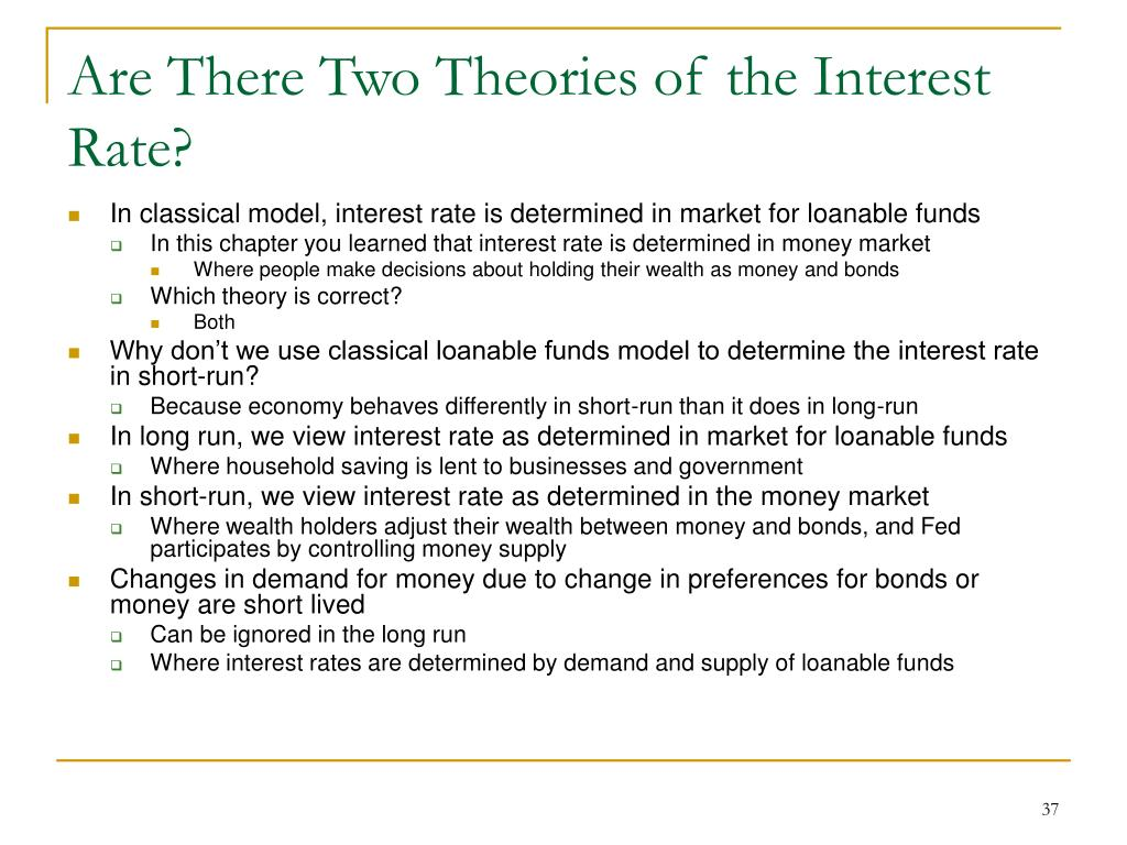 Are There Two Theories of the Interest Rate?