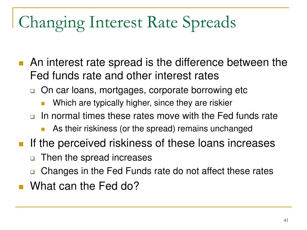Changing Interest Rate Spreads