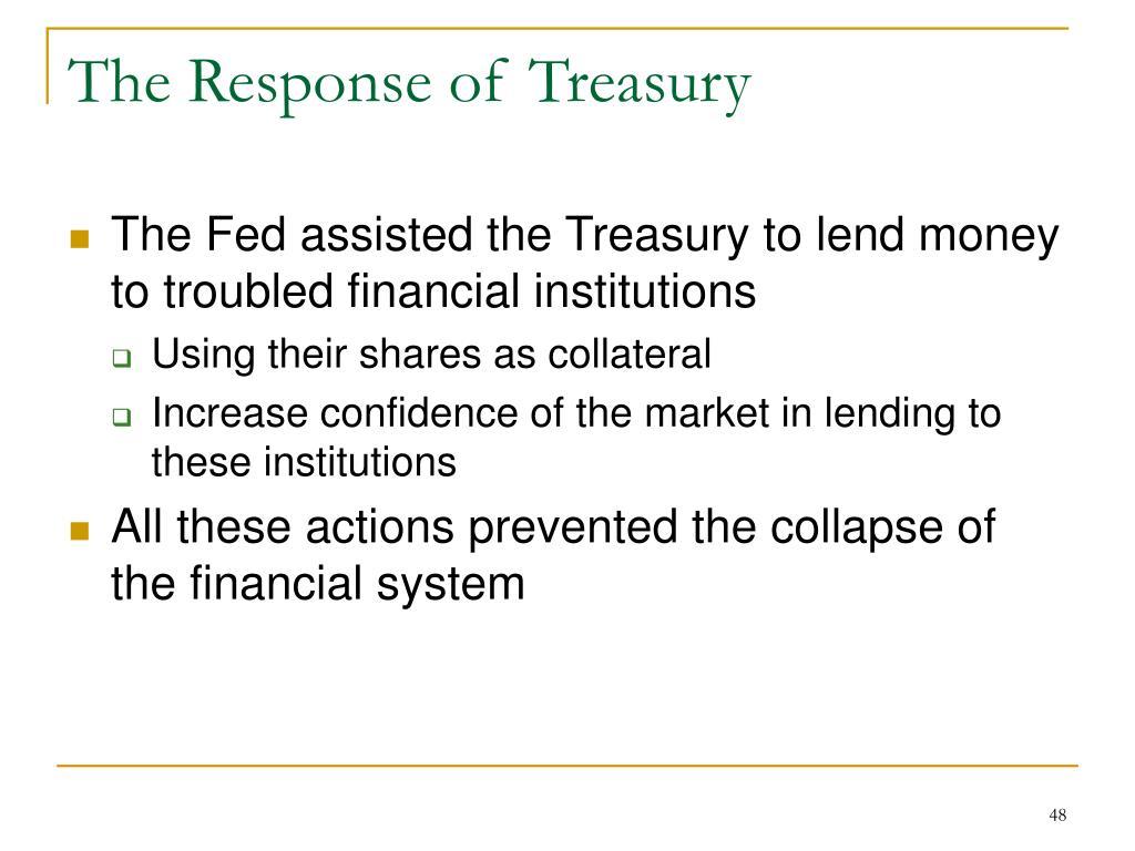 The Response of Treasury