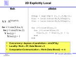 2d explicitly local
