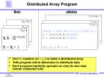 distributed array program
