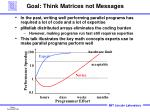 goal think matrices not messages