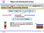 maps and distributed arrays