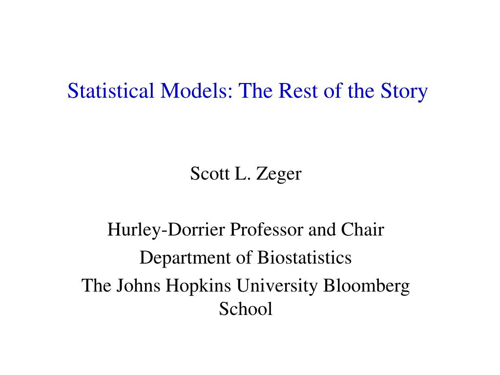 statistical models the rest of the story l.