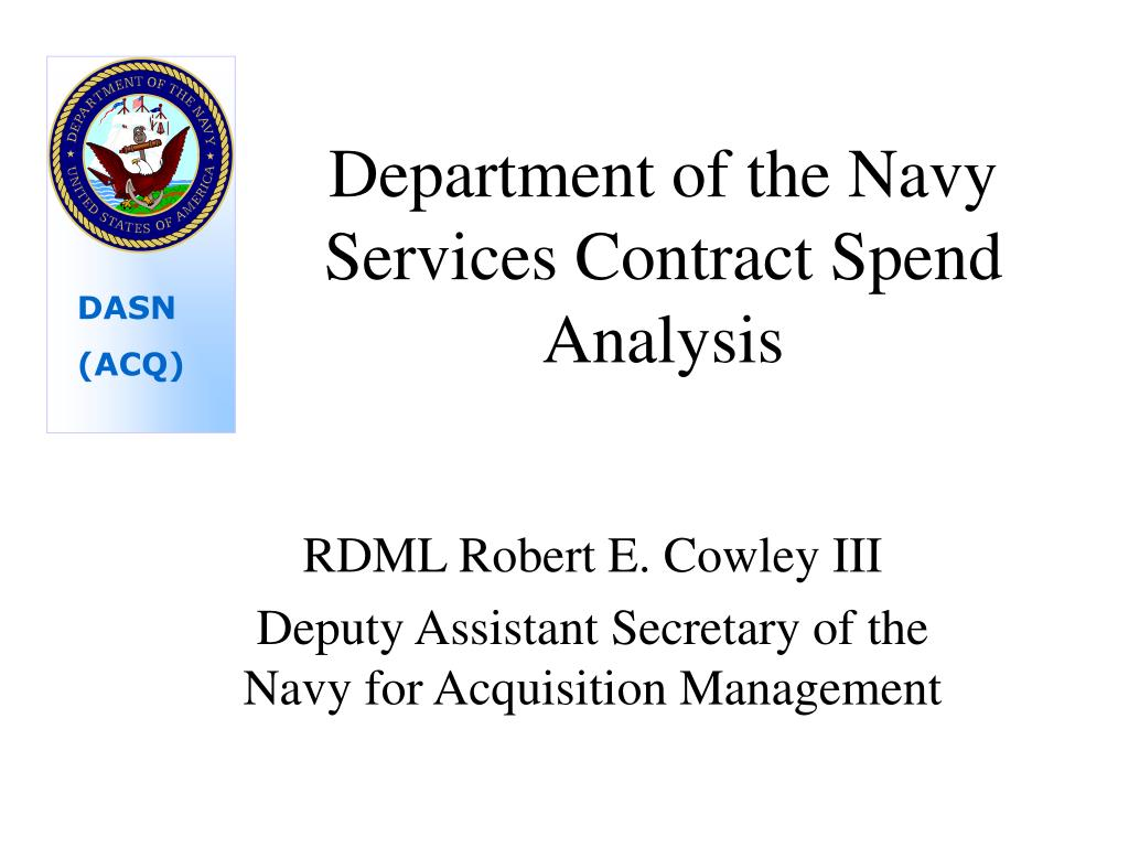 department of the navy services contract spend analysis l.