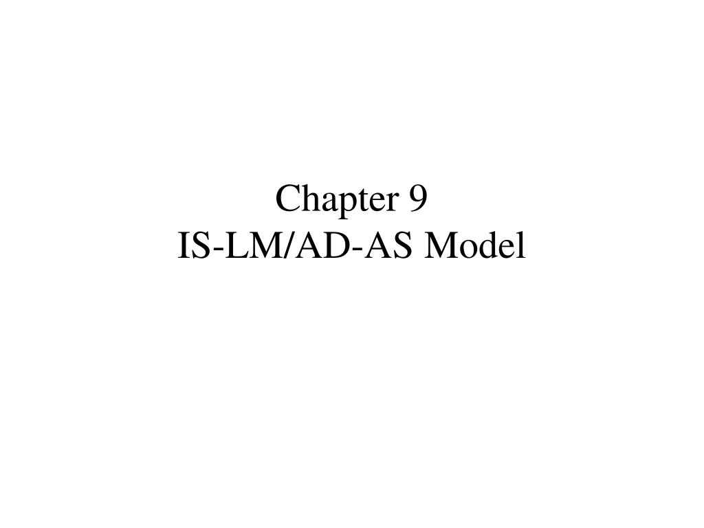 chapter 9 is lm ad as model l.