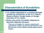characteristics of eurodollars