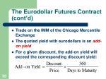 the eurodollar futures contract cont d30