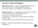 a sexual a nd s exual propagation