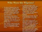 who were the pilgrims
