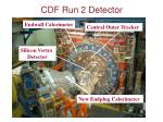 cdf run 2 detector