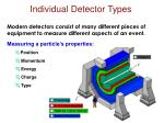 individual detector types