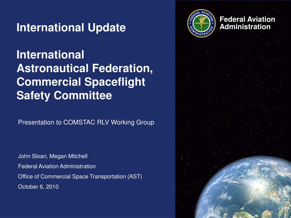 international update international astronautical federation commercial spaceflight safety committee l.