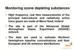 monitoring ozone depleting substances