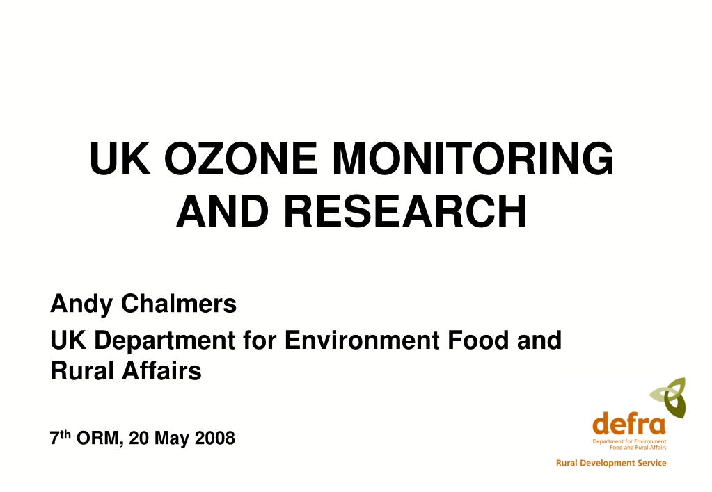 uk ozone monitoring and research l.